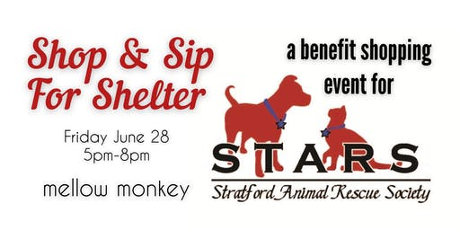 Shop & Sip For Shelter Benefit for Stratford Animal Rescue Society (STARS)