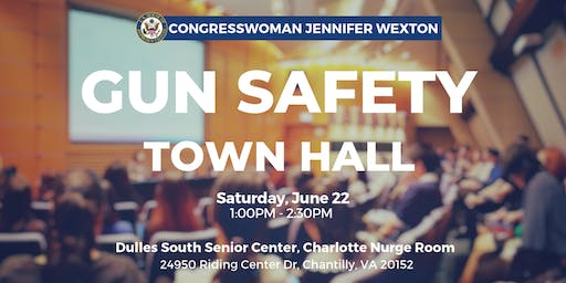 Congresswoman Wexton Hosts Gun Safety Town Hall