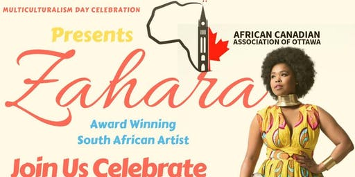 Multiculturalism Celebration with ZAHARA, Award-Winning Artist