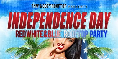 4th of July Red White Blue Rooftop Event