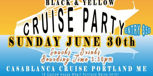 Black and yellow cruise party