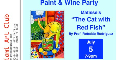 """Paint & Wine Party, Matisse's """"The Cat With Red Fish"""" tickets"""