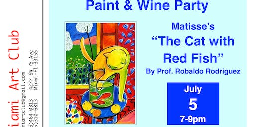 """Paint & Wine Party, Matisse's """"The Cat With Red Fish"""""""
