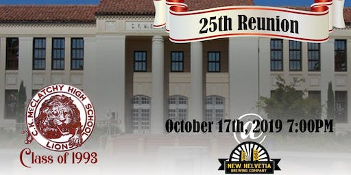 McClatchy Class of '93 25th Reunion