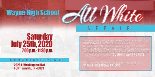 Wayne High School Alumni Weekend All White Affair