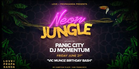 NEON JUNGLE PARTY | FREE GUEST LIST tickets
