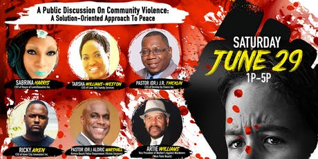 IT'S TIME TO TALK: A Public Forum On Community Violence tickets