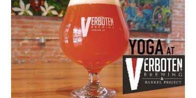 Yoga and Beer at Verboten Brewing