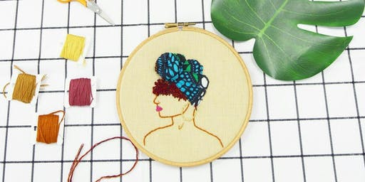 Learn to create an Afro Inspired 3D embroidery Hoop