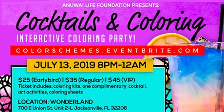 Color Schemes Cocktails and Coloring - Jacksonville, FL tickets