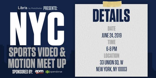 NYC Sports Video & Motion Meet Up