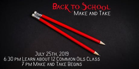 Back to School Make and Take tickets