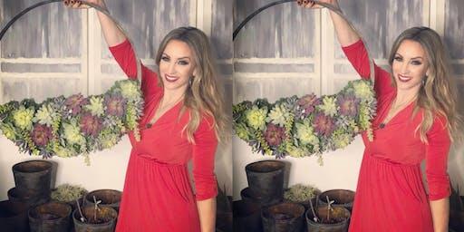 DIY Creative Faux Succulents Workshop- Wine Barrel Ring!