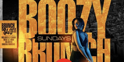 The Boozy Brunch Sunday Party @ Jimmy's; $40 Brunch includes 3 Course Meal & 2 hour Unlimited Sangria/Mimosas