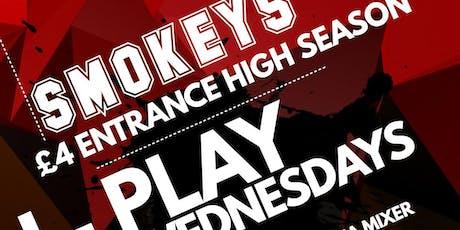 SMOKEYS I-PLAY Wednesdays 19.06.19 tickets