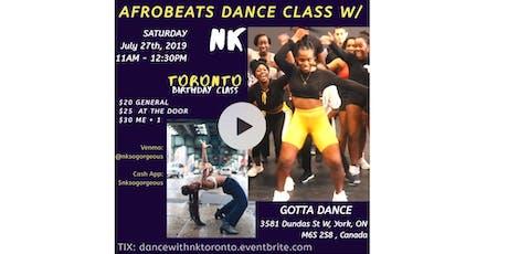 Afrobeats Dance Class w/ Nk - TORONTO tickets
