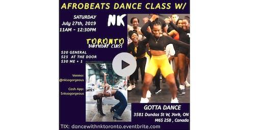 Afrobeats Dance Class w/ Nk - TORONTO