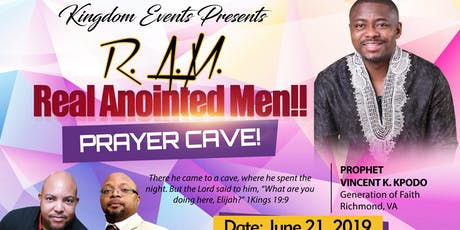 "R.A.M. Real Anointed Men ""Prayer Cave"" tickets"
