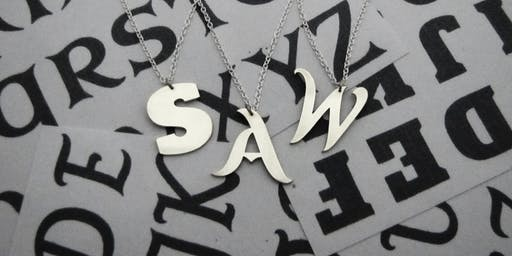 Saw piercing workshop - create an initial pendant