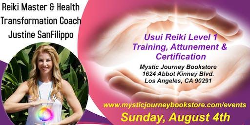Usui Reiki Level 1 Training, Attunement & Certification