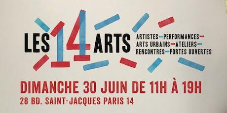 LES 14 ARTS - Au bout de l'Allée - Exposition collective d'art contemporain billets
