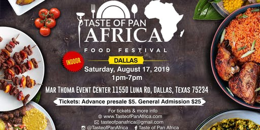 Taste of Pan Africa Indoor Food Festival Dallas
