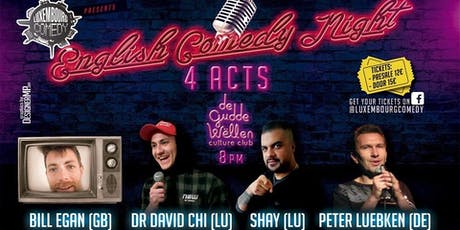 English Comedy Night at Gudde Wellen  tickets