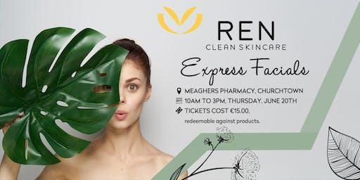 REN Express Facials to help reveal your inner glow