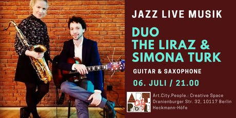 JAZZ LIVE MUSIC: The Liraz (guitar) & Simona Turk (saxophone) Tickets