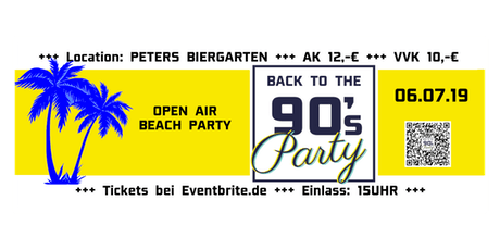 Back to the 90's Open Air Beach Party Tickets