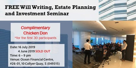 FREE Will Writing, Estate Planning & Investment Seminar tickets