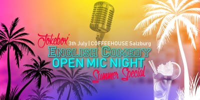 English Comedy Open Mic Night - Summer Special