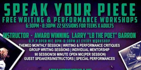 Speak Your Piece(College/Adult) Workshop tickets