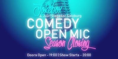 Jokebox' Comedy Open Mic | Season Closing