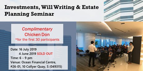 Investment, Will Writing & Estate Planning Seminar tickets