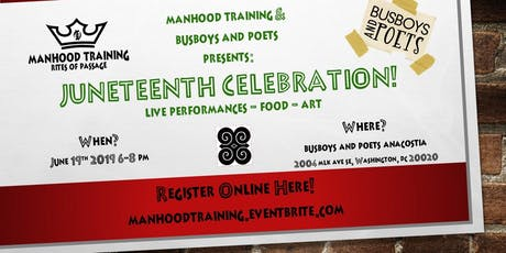 Juneteenth Celebration for Manhood Training Fundraiser Rites of Passage tickets