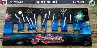 Cleveland Indians Skyline Paint Night! [Red Lantern]