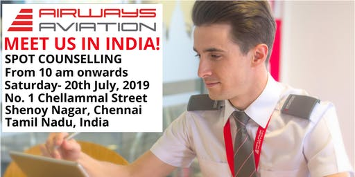 Airways Aviation, Meet us in Chennai, India – SPOT COUNSELLING