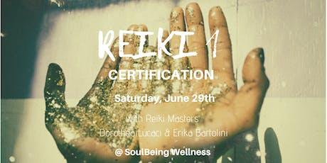 Reiki 1 Certification tickets