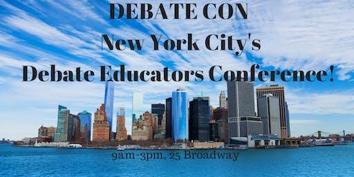 DEBATE CON XIII (FALL 2019) - Conference for NYC Debate Educators