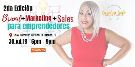 Brand + Marketing + Sales para Emprendedores tickets