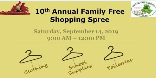 10th Annual Family Free Shopping Spree