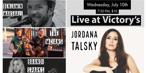 Songs and a Passport: Featuring Jordana Talsky, Benjamin Marshall, The McIans and Brandi Sparks