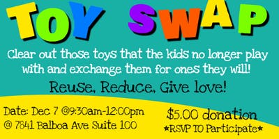 Holiday Toy Swap-Reuse, Reduce, Give LOVE