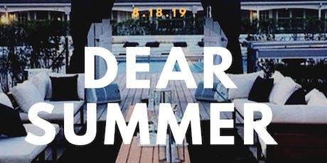8.18 | DEAR SUMMER | Hamptons Pool Party Experience| #MtaRocky tickets