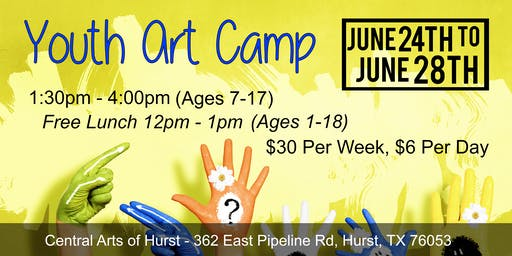 Youth Art Camp - June 24th to June 28th (Central Arts of Hurst)