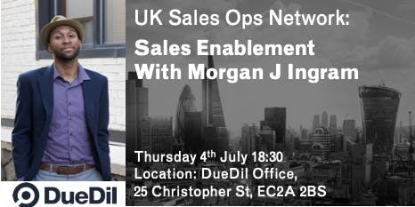 Sales Operations Event - Sales Enablement With Morgan J Ingram