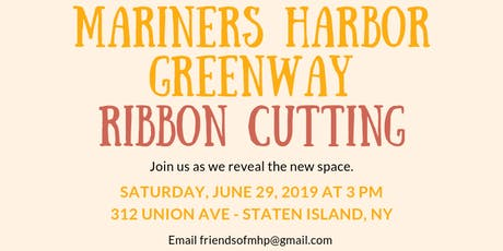 Mariners Harbor Greenway Grand Opening tickets