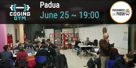 Coding Gym - Giugno 2019 - Programmers in Padua biglietti