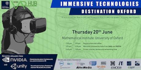 Immersive Technologies: Destination Oxford tickets
